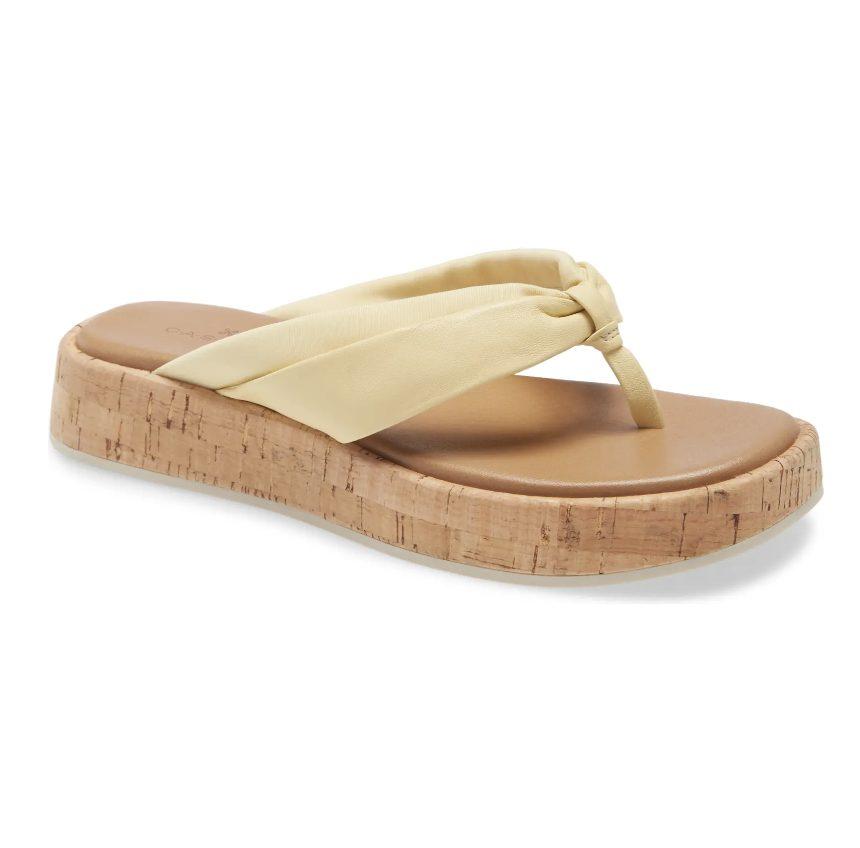 Light yellow sandals