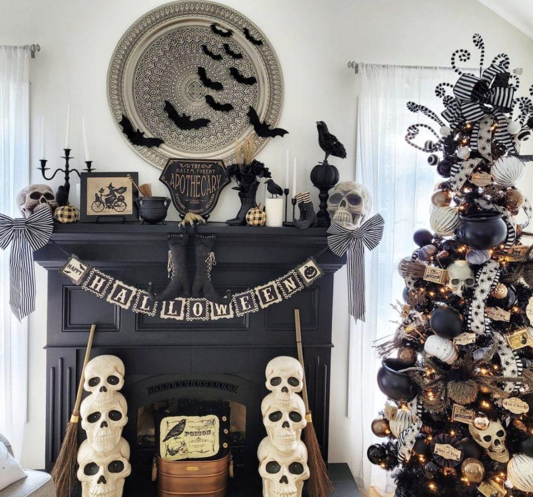 Spooktastic Skeleton Tree