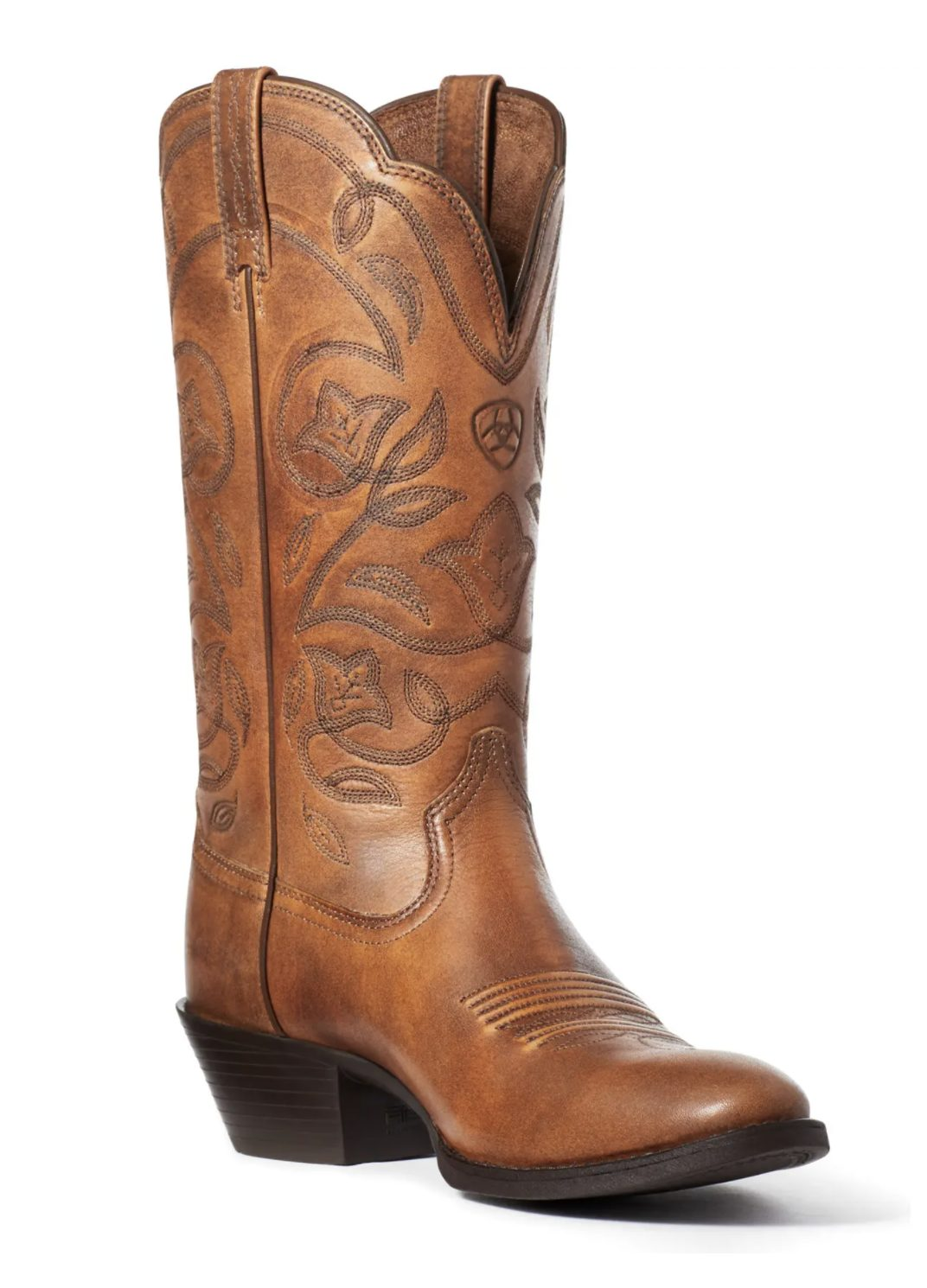 Tan heritage Western cowboy boots for country music festival