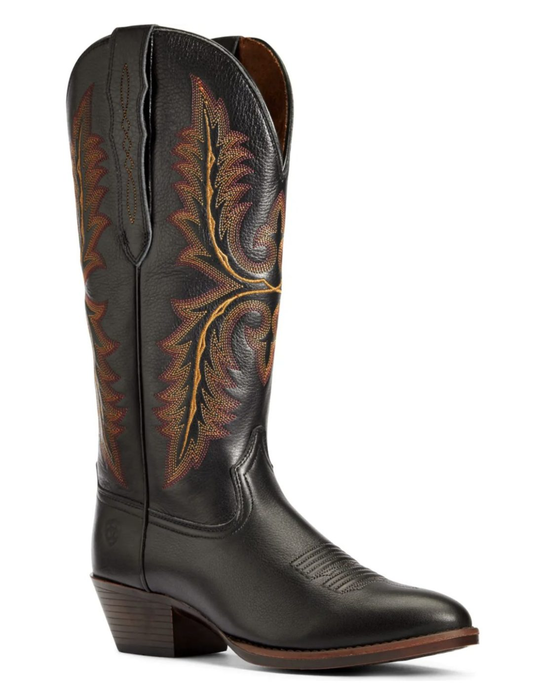 Heritage black cowboy Western boots for country music festival