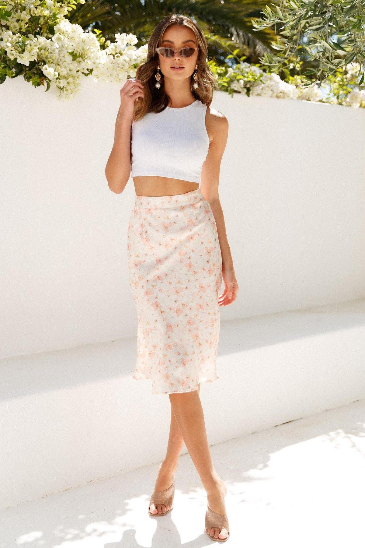 Cute boating outfit with midi skirt