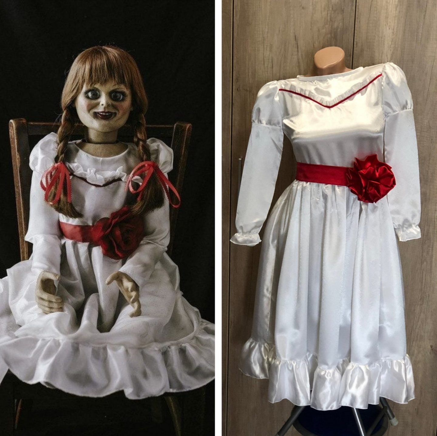 Scary Annabelle Halloween costume for women