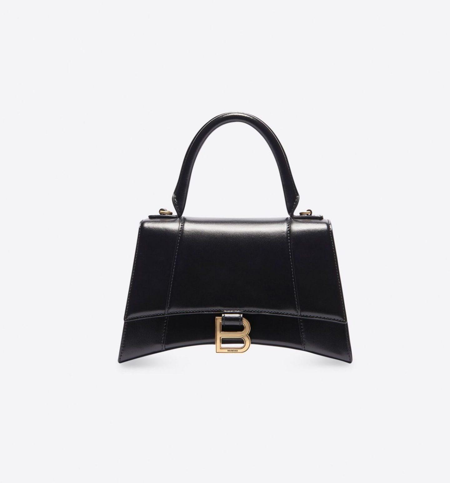 Black Hourglass minimalist bag from Balenciaga