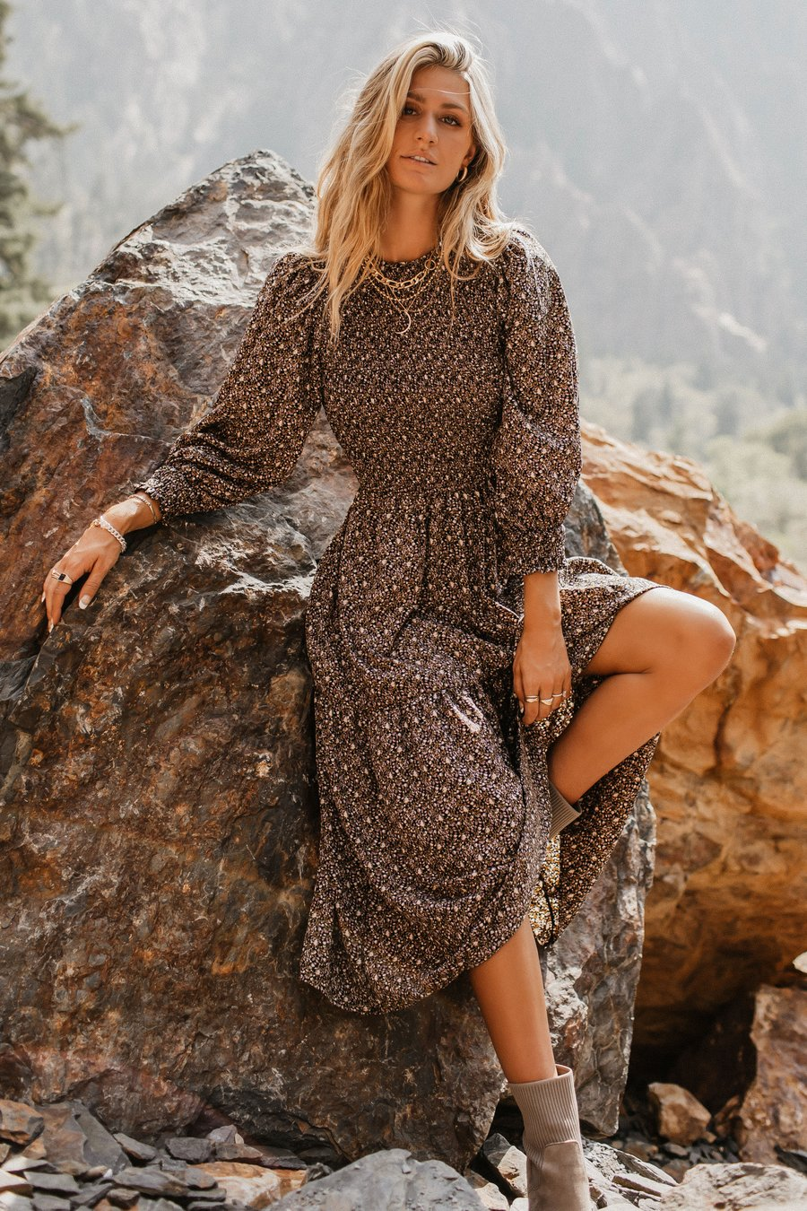 Cute boho maxi dress