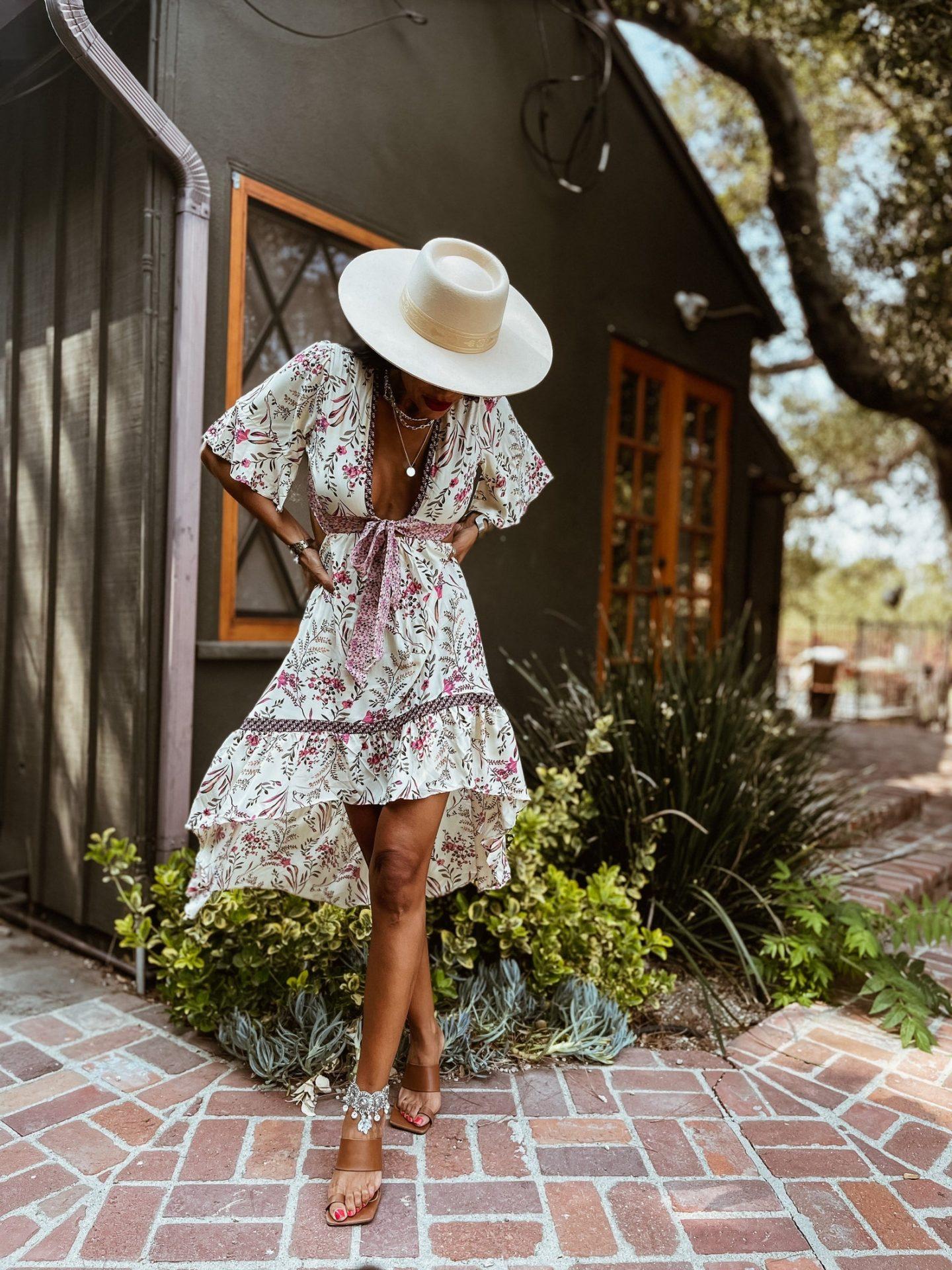 Cute floral bohemian dress