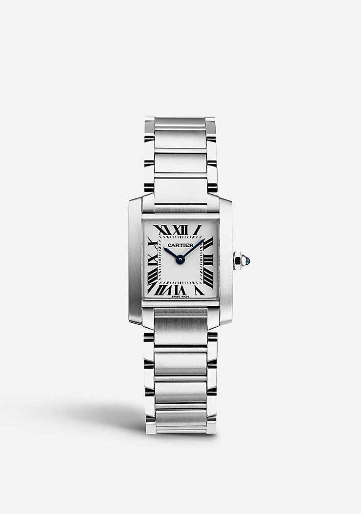 Best entry level luxury watches for women: Cartier Tank Francaise