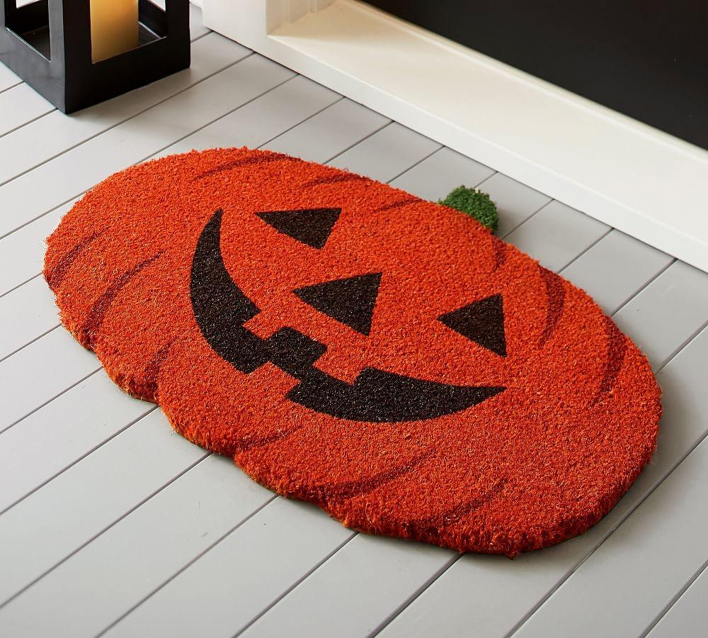 Deep orange Pumpkin Doormat