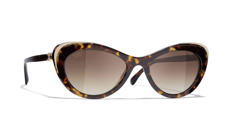 Chanel tortoiseshell cat eye sunglasses