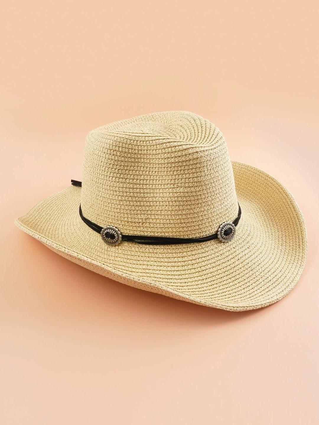 Cute straw cowboy hat