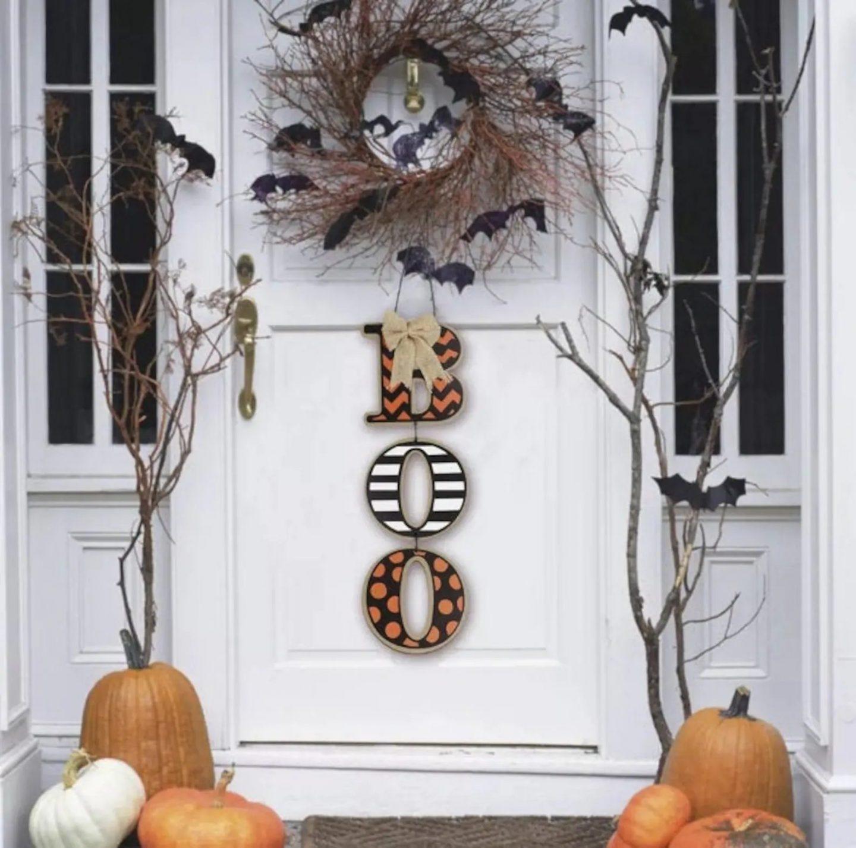 Boo Halloween Door Hanger For Front Door