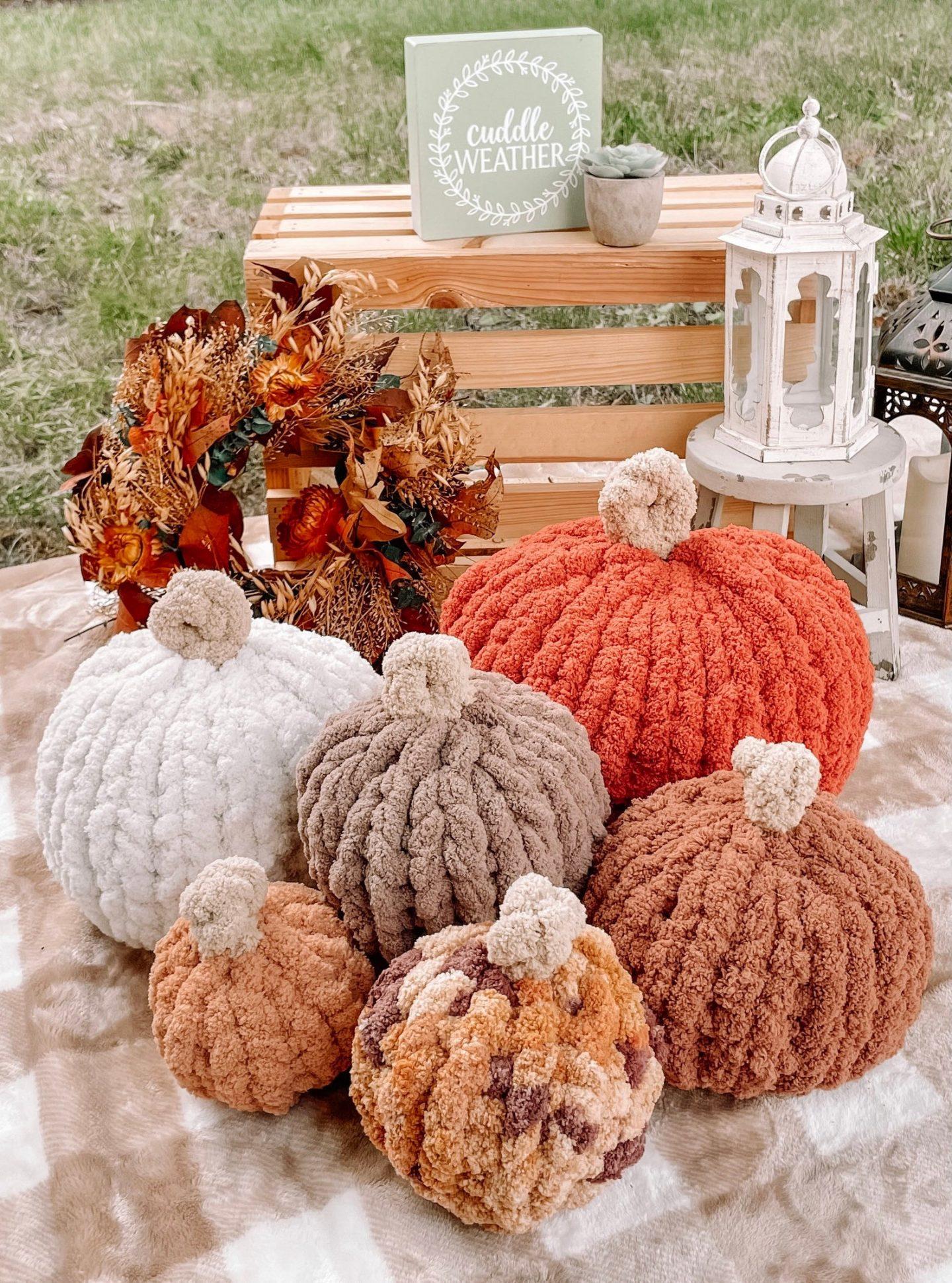 Farmhouse Chunky Knit Pumpkins