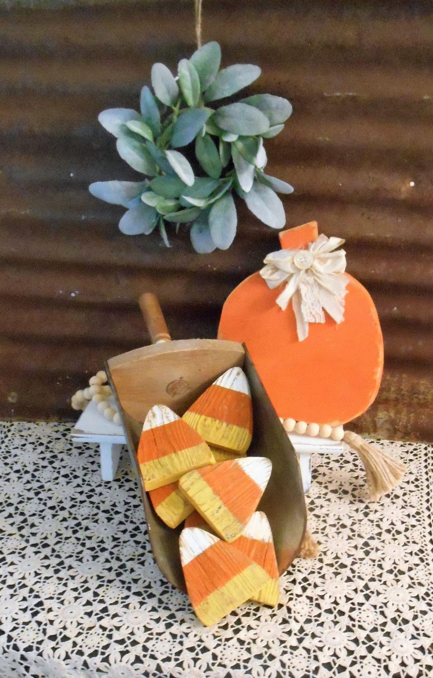 Wooden candy corn wooden fall decor