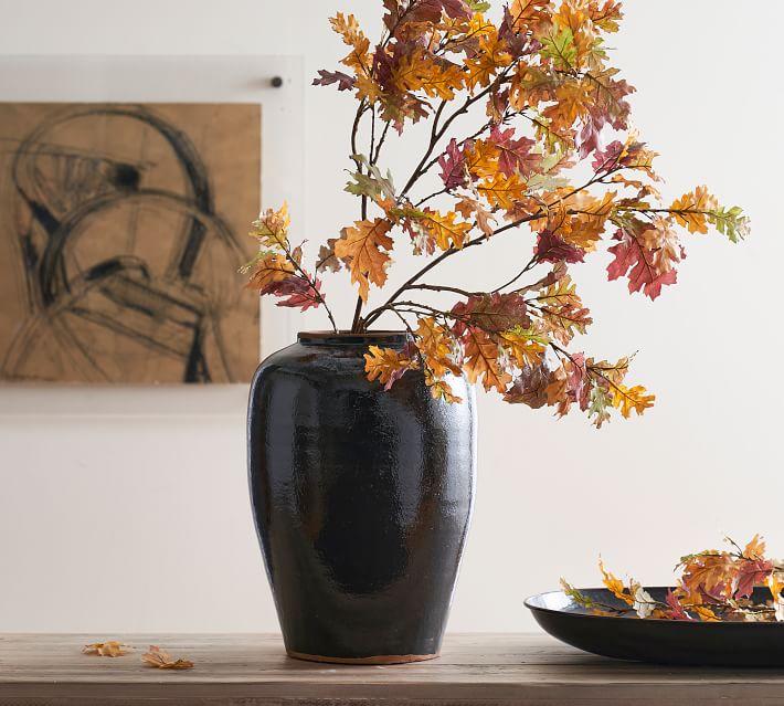 Faux Autumn Oak Branch