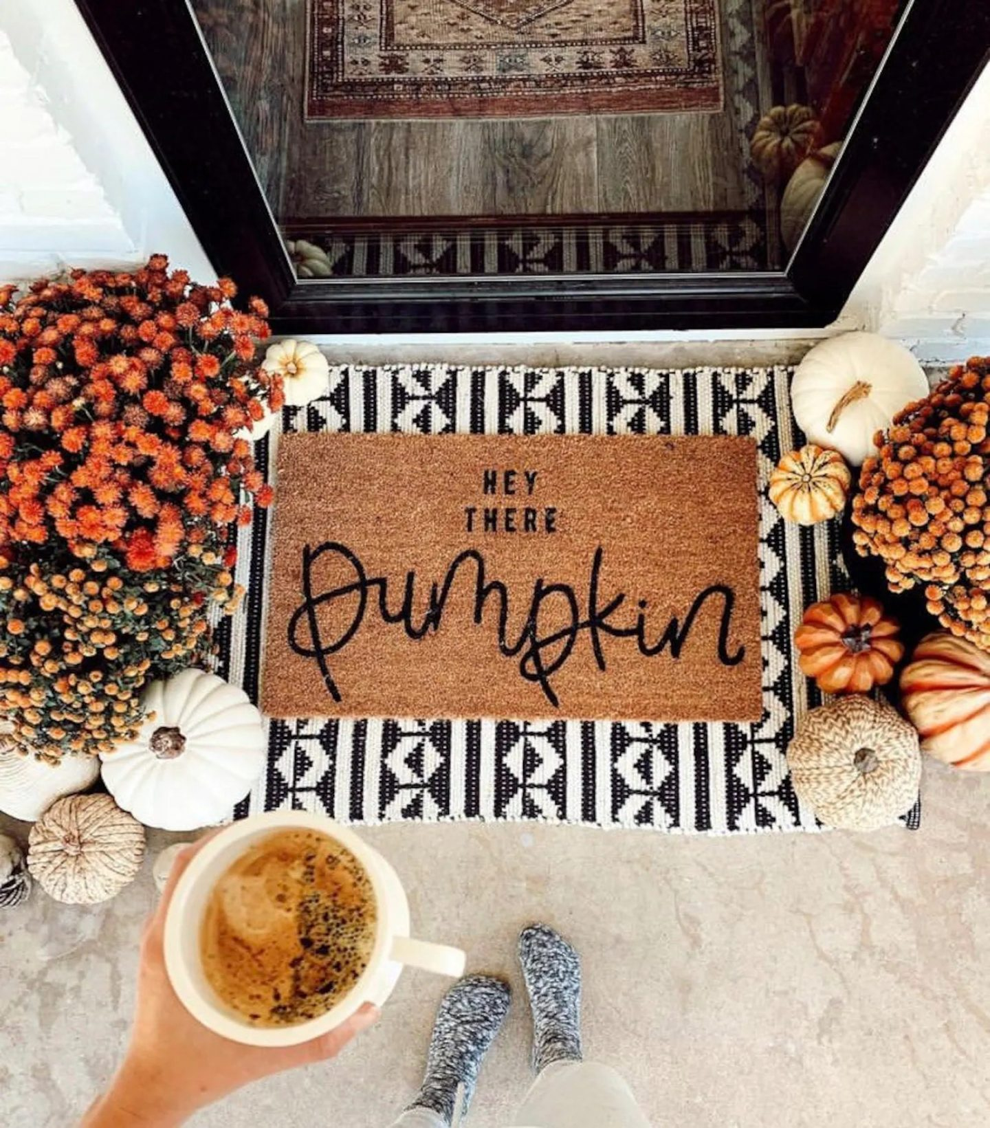 Hey There Pumpkin Fall Doormat For Outdoor Fall Decor