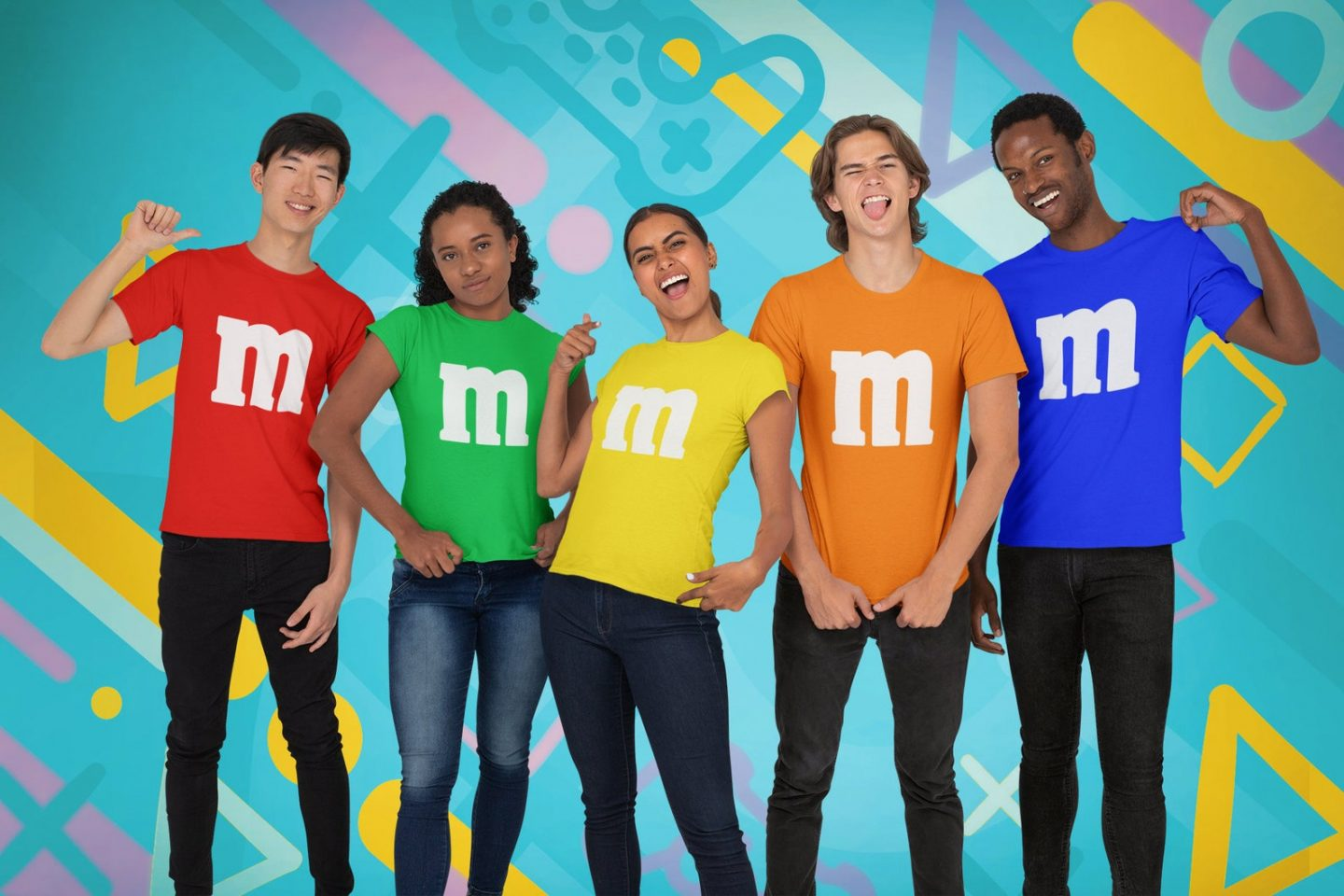 M&Ms group Halloween costumes