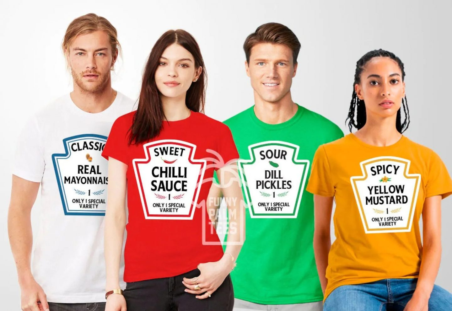 Cute condiments Halloween costumes for 4 adults