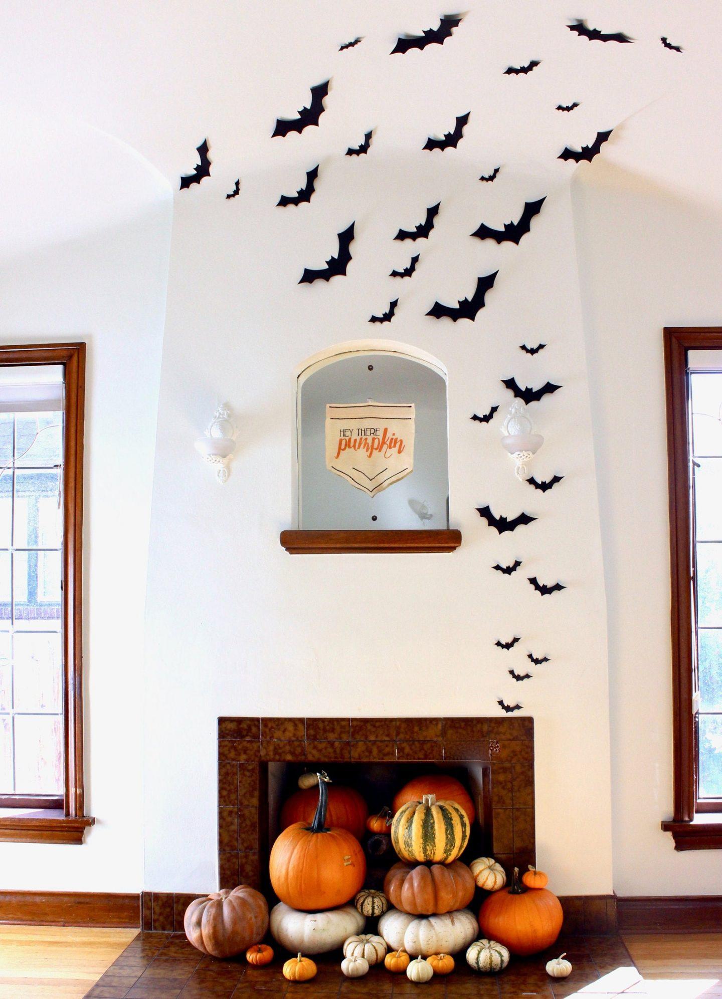 Wall Hanging Bats - cute indoor Halloween decor
