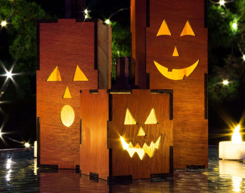 Wooden Jack'O'Lanterns