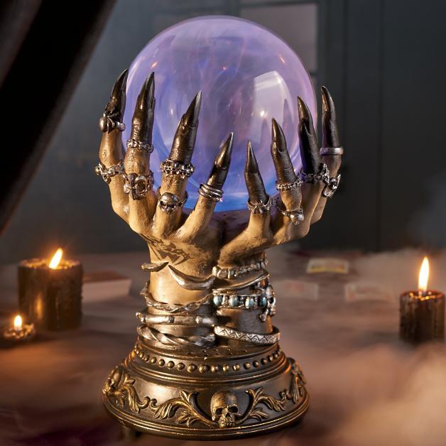 Celestial Crystal Ball for Indoor Halloween Decor