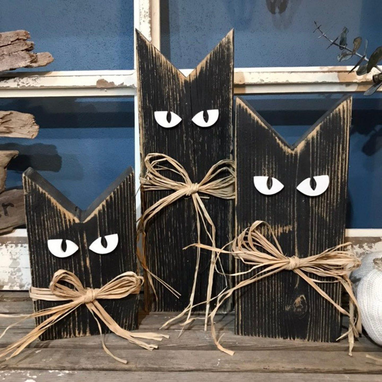 Wooden Black Cats