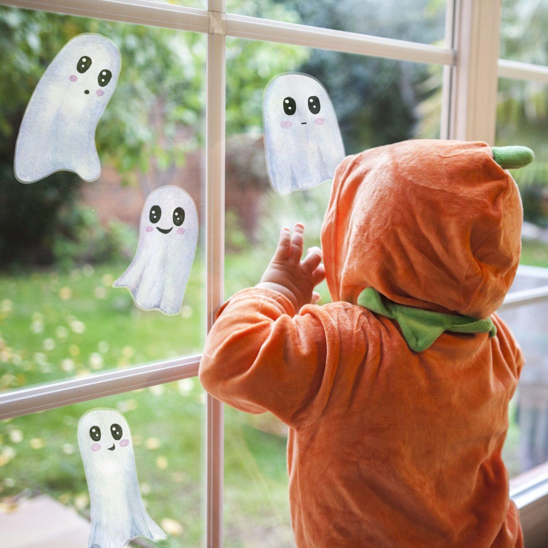 Cute White Ghost Window Stickers