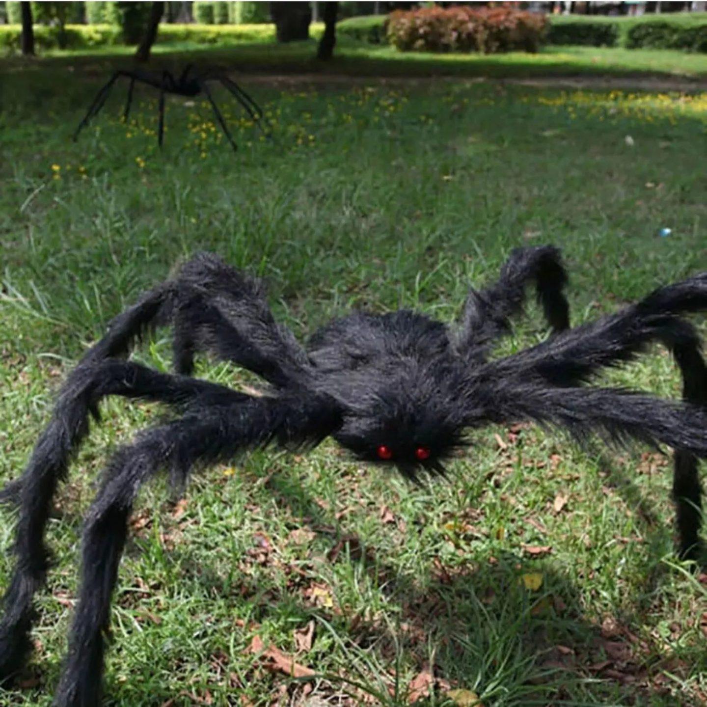 Giant spider Halloween outdoor decor