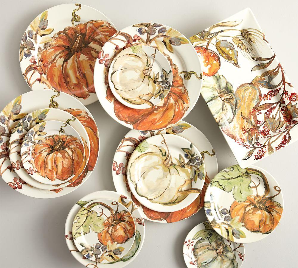 Harvest Pumpkin Plates