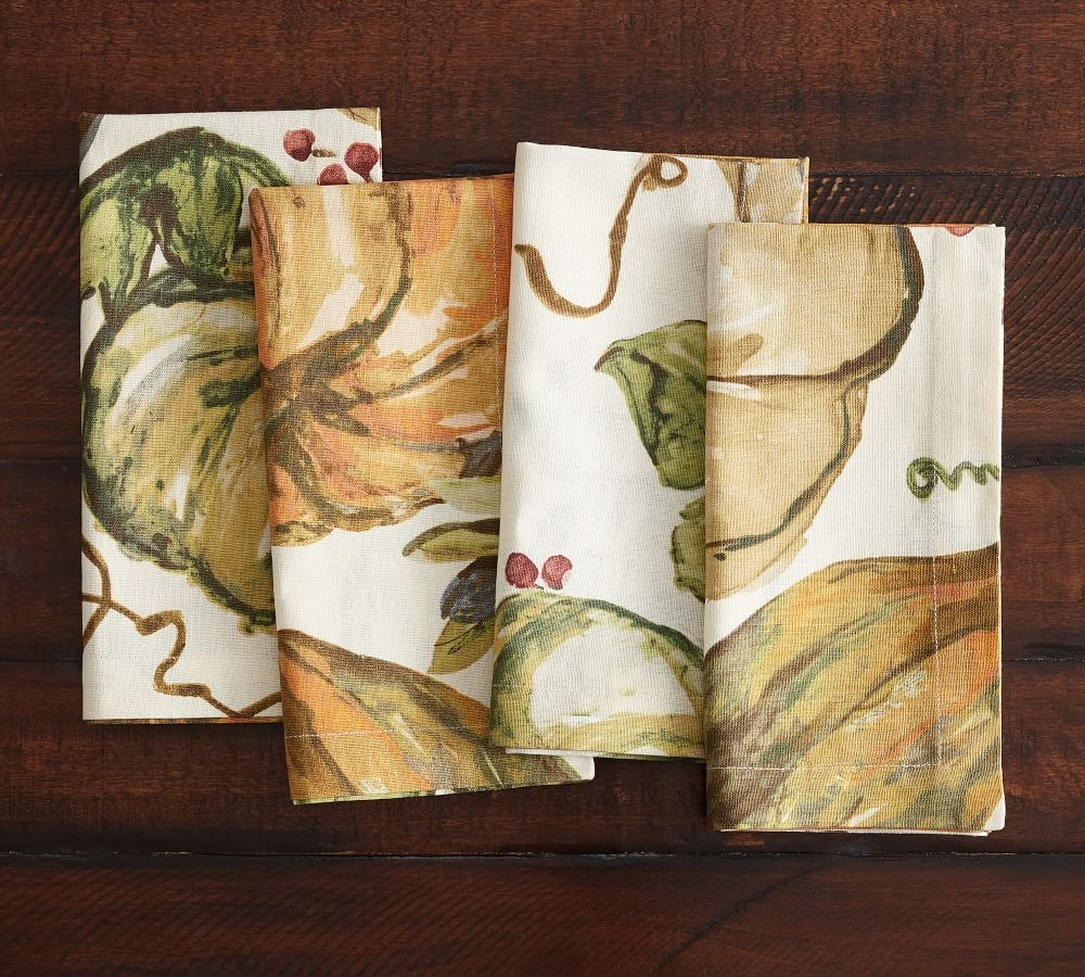 Harvest Pumpkin Linen Towels