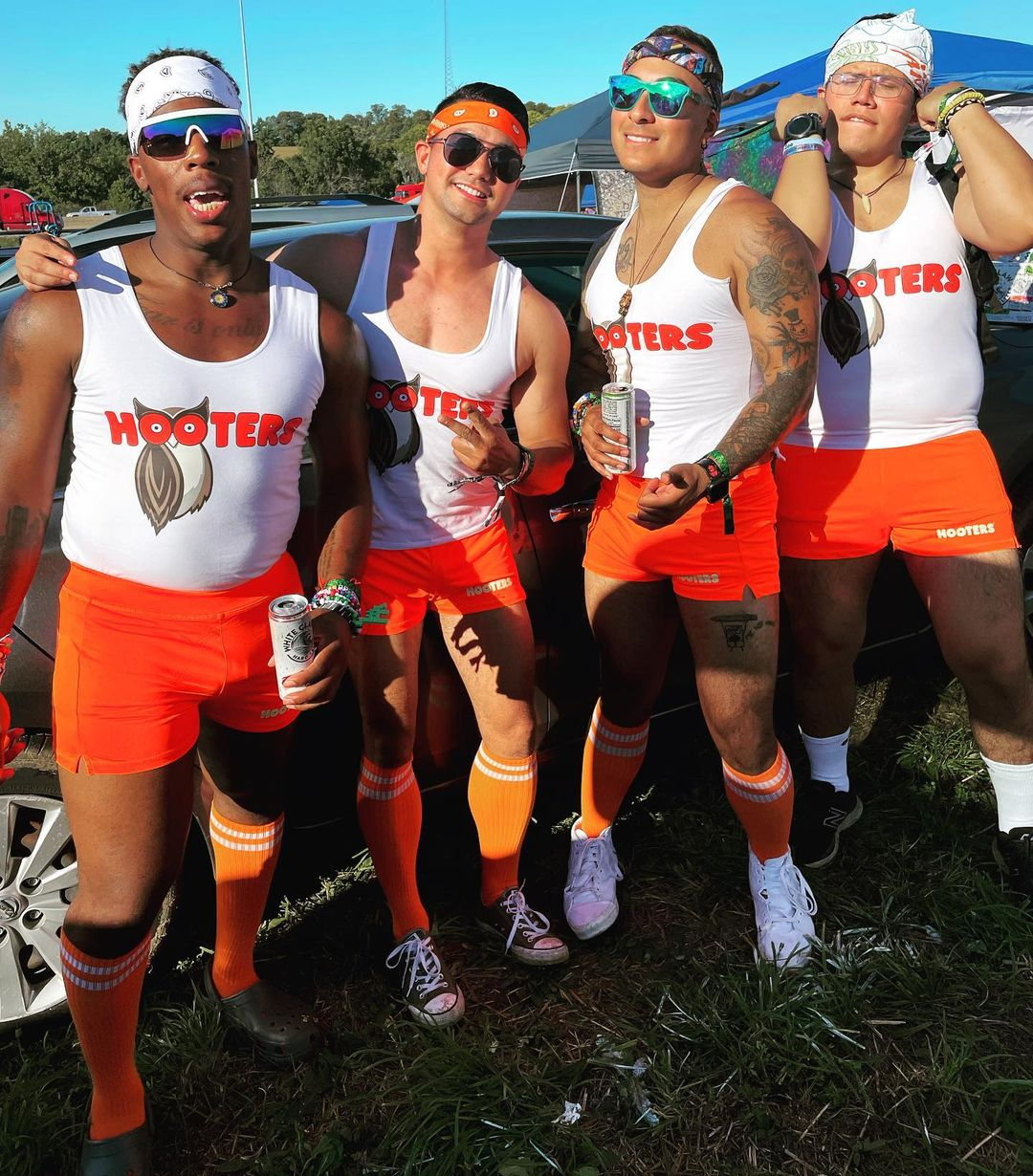 Funny hooters Halloween costumes for 4
