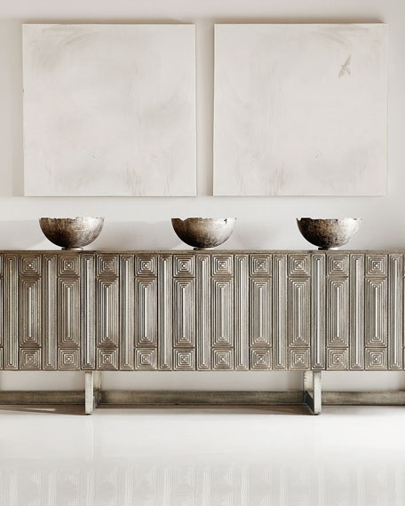 Beautiful metallic entertainment credenza from Horchow