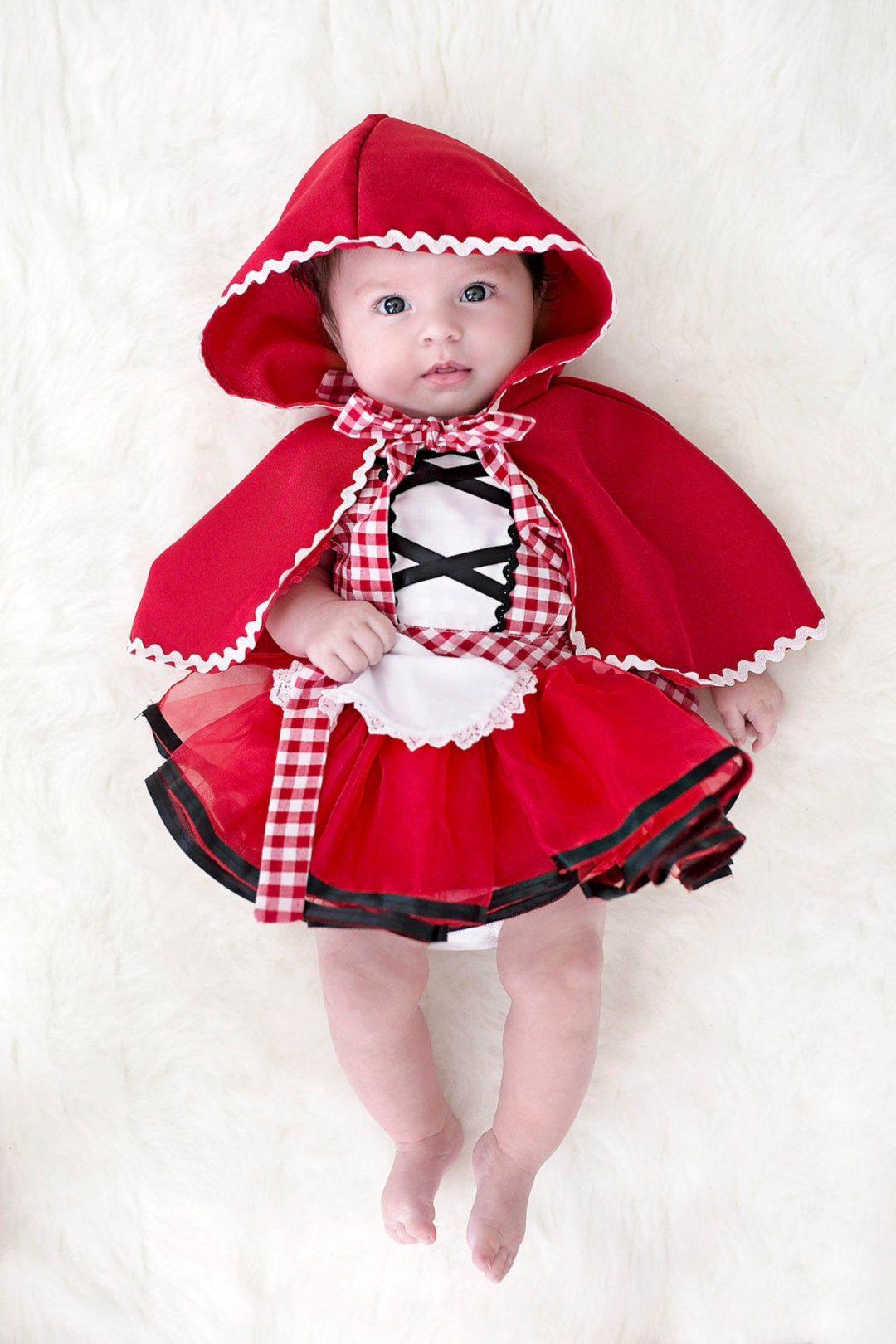 Best Newborn Halloween Costumes: Little red riding hood costume