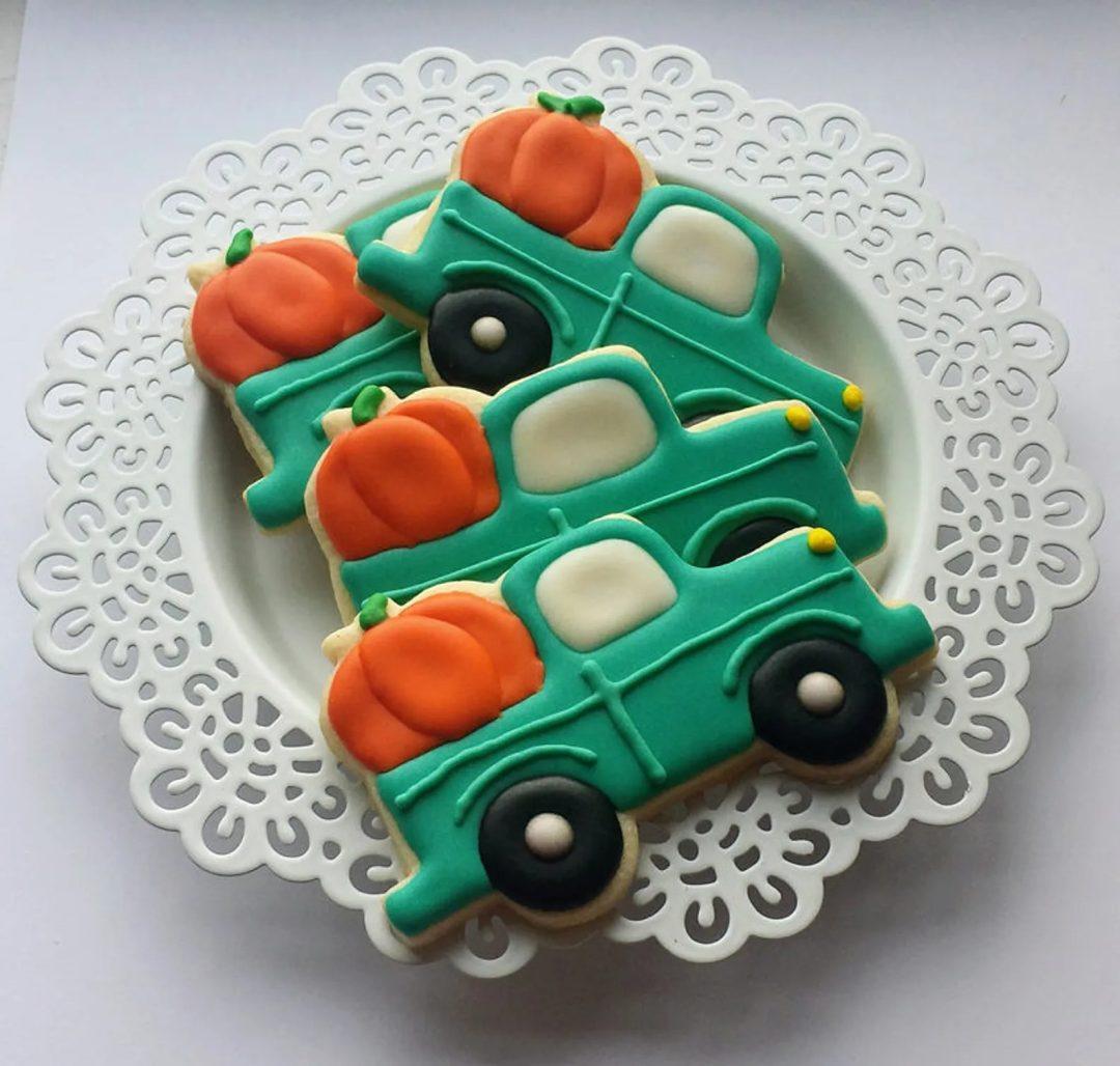 Pumpkin Truck Sugar Cookies
