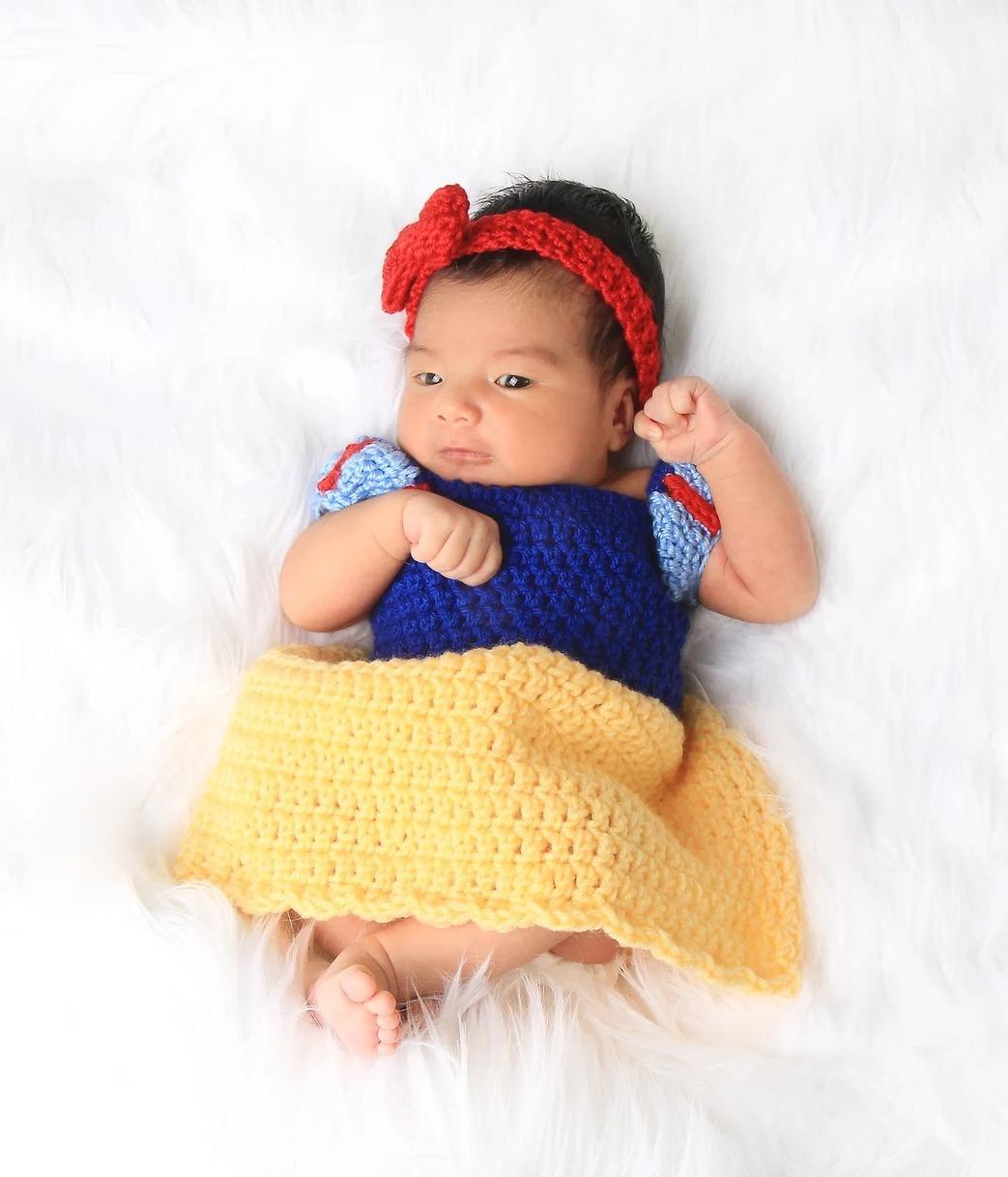 Snow White newborn Halloween costume