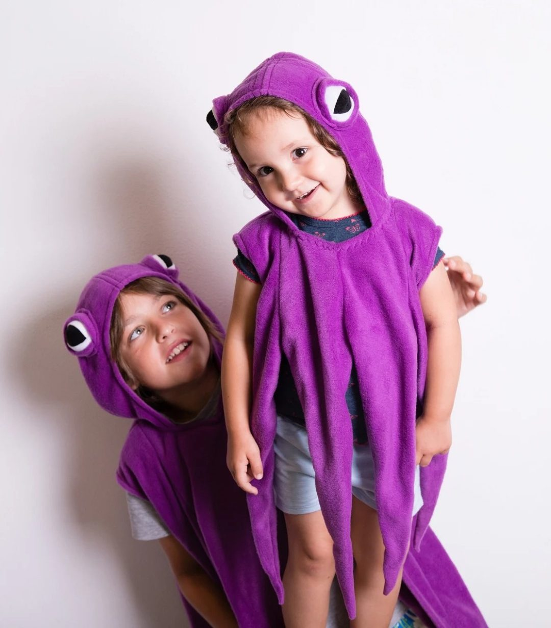 Purple octopus sibling Halloween costumes