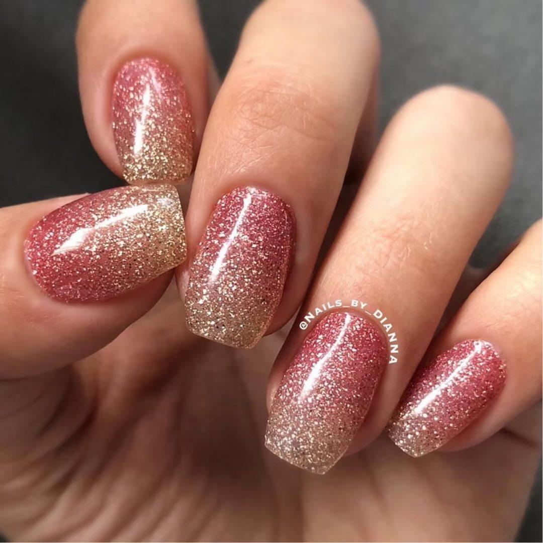 Rose gold nail wraps