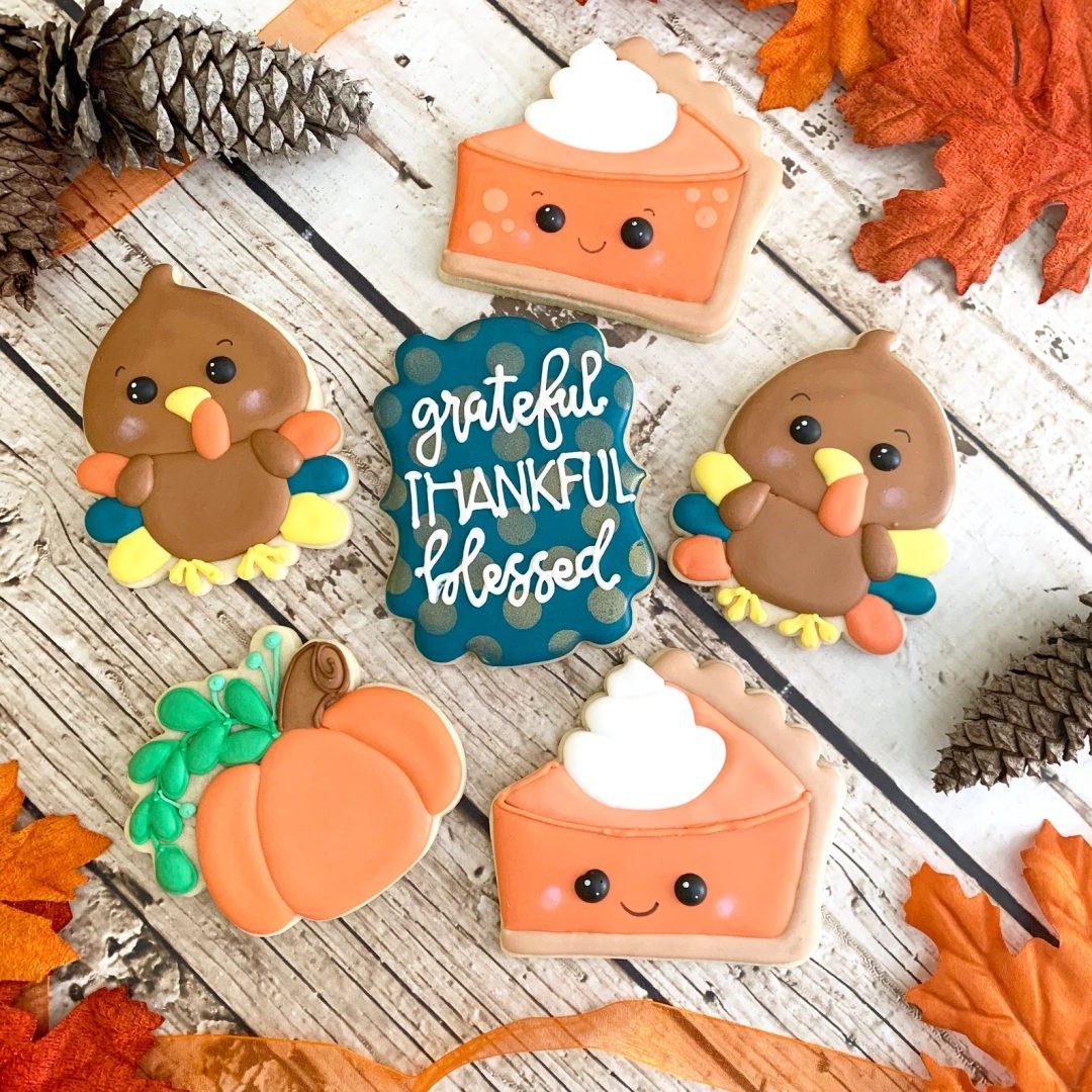 Chibi Thanksgiving Cookies