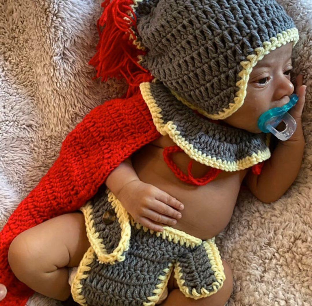 Crochet gladiator costume
