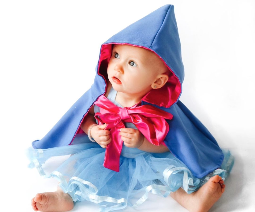 Baby fairy godmother with hood