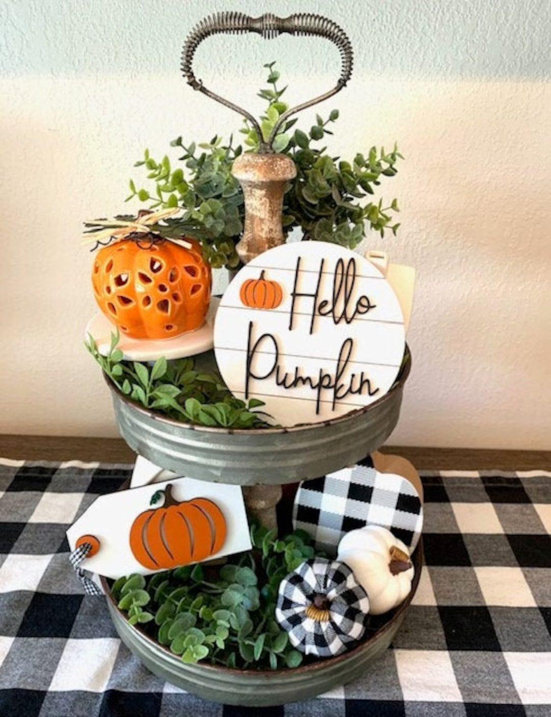 Hello Pumpkin Decor Tray
