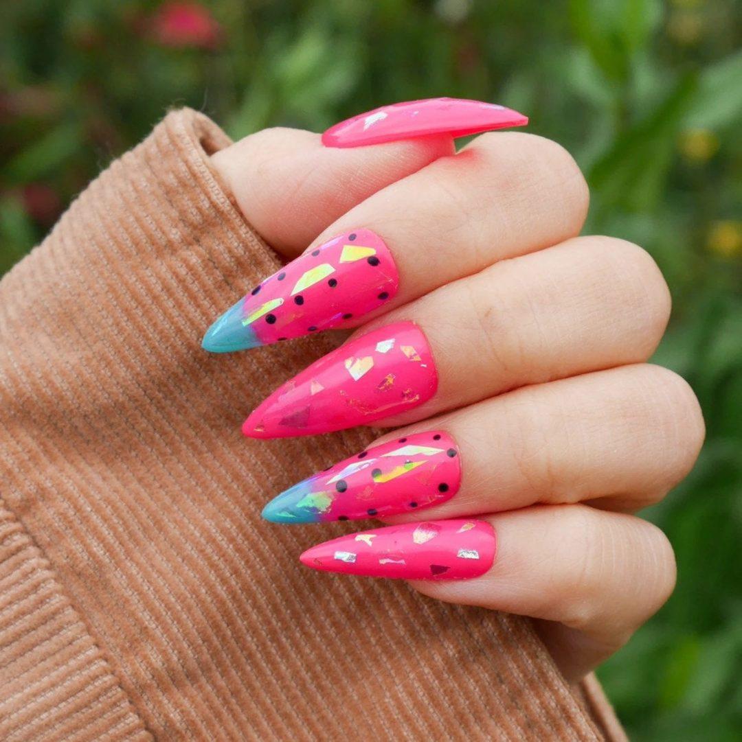 Watermelon fruit nails
