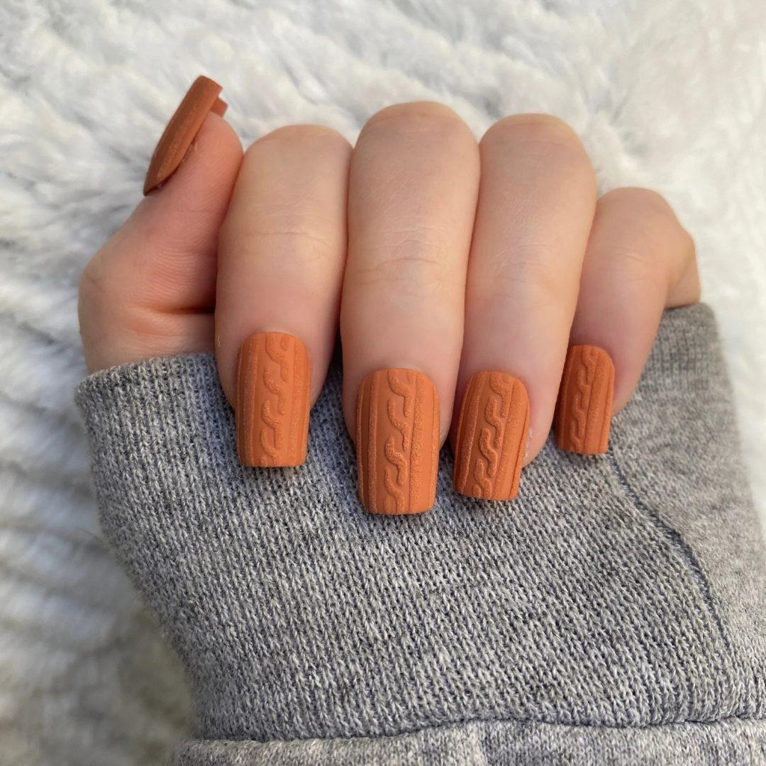 Burnt orange sweater nails