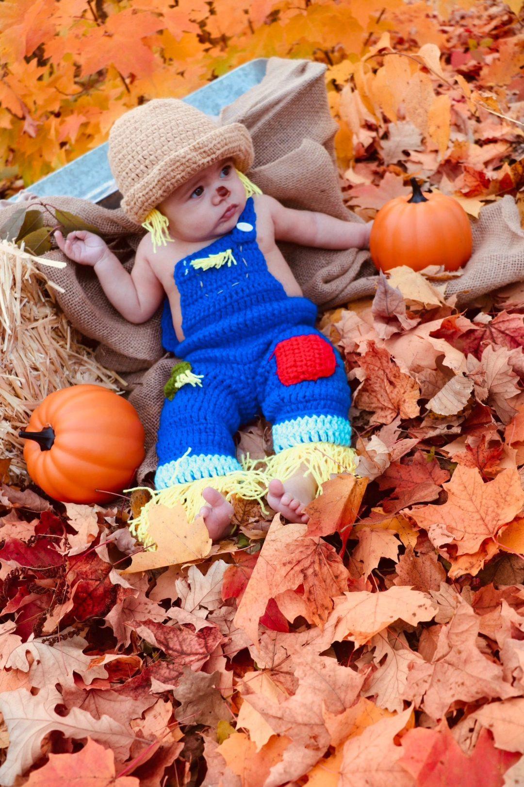 Crochet baby scarecrow