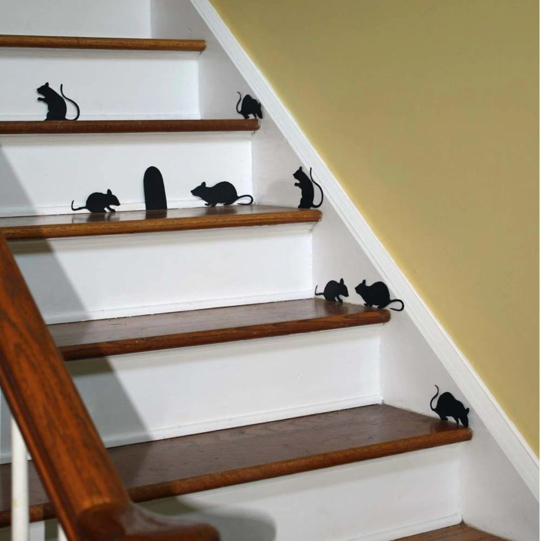 Black Stair Mice Vinyl Decal