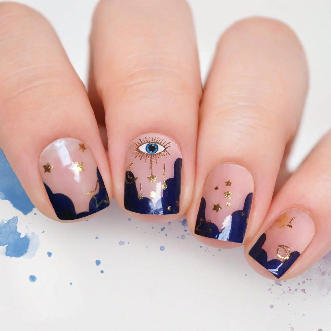 Evil eye nail wraps