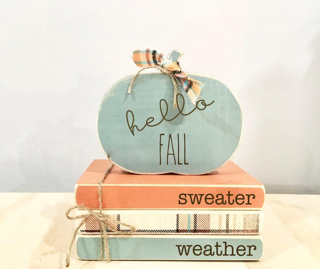 """Hello Fall"" Wooden Blocks"