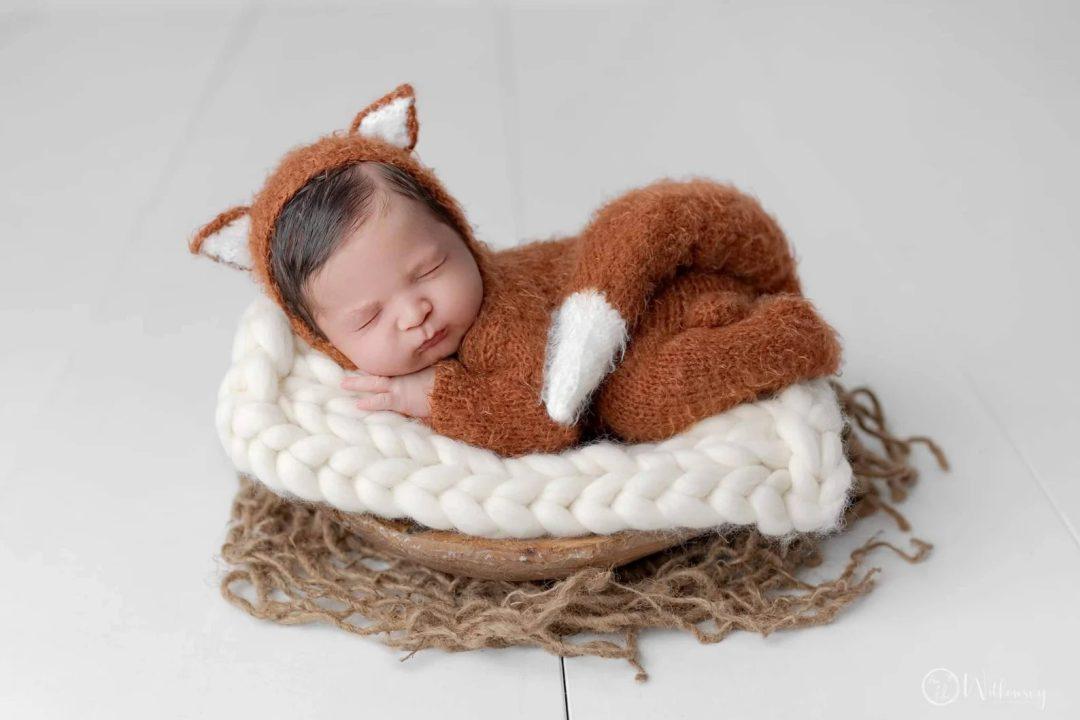 Best Newborn Halloween Costumes: Fuzzy little fox