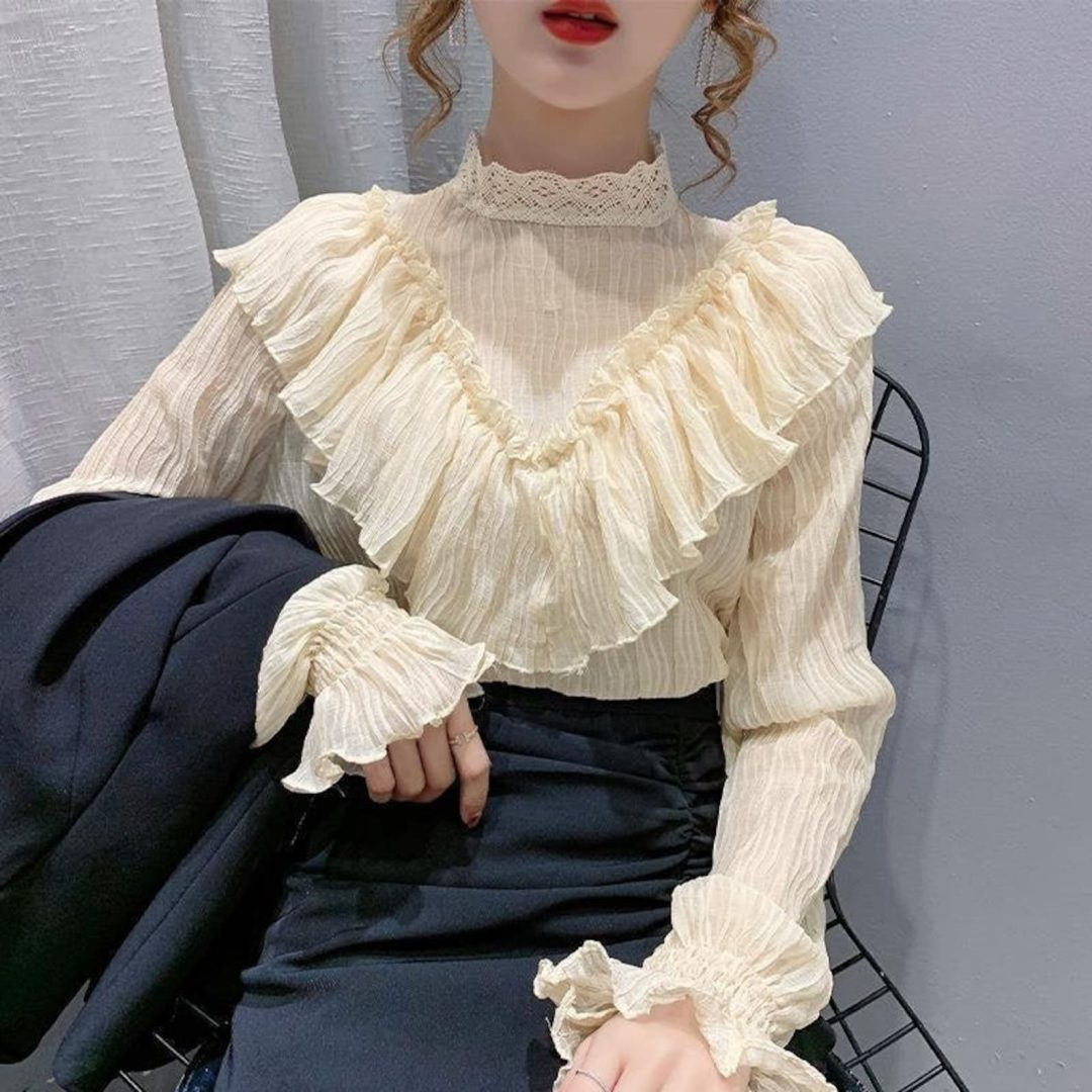 Light Academia Outfits: Victorian style blouse