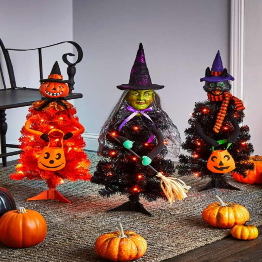 Halloween X Christmas Tree with witches