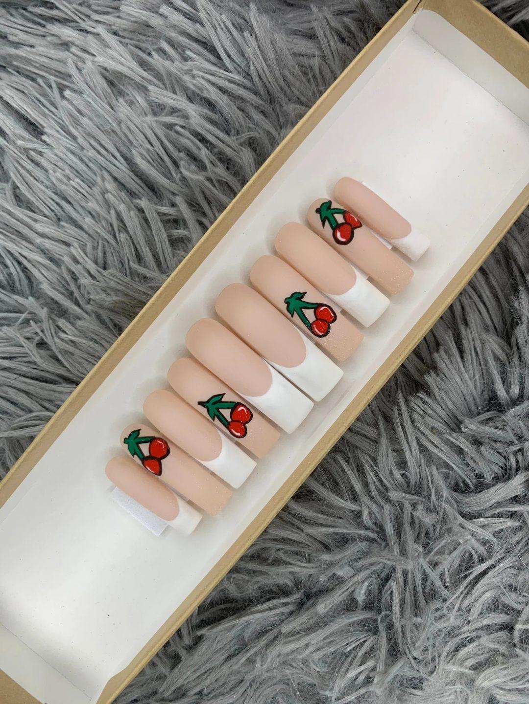 Cherries square nail set