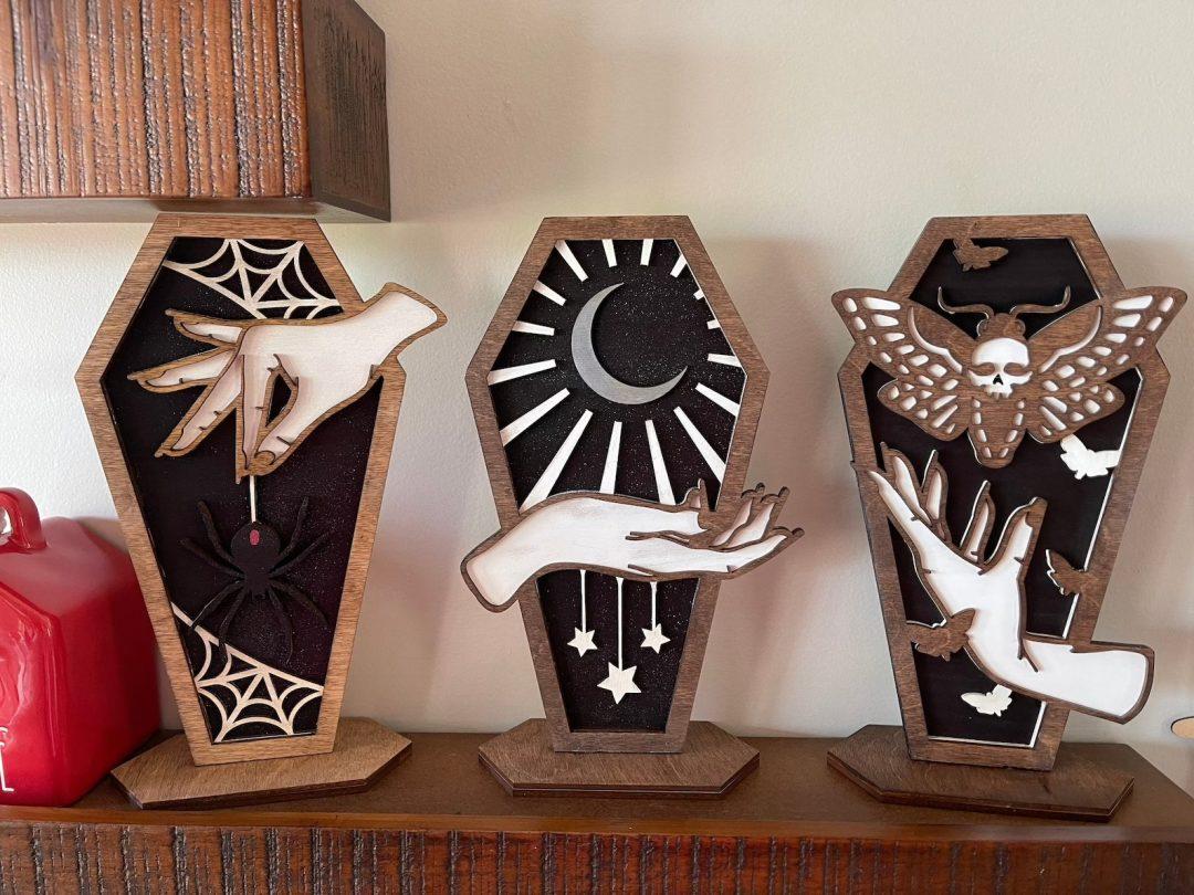 Witch Hand Coffins for indoor Halloween decor